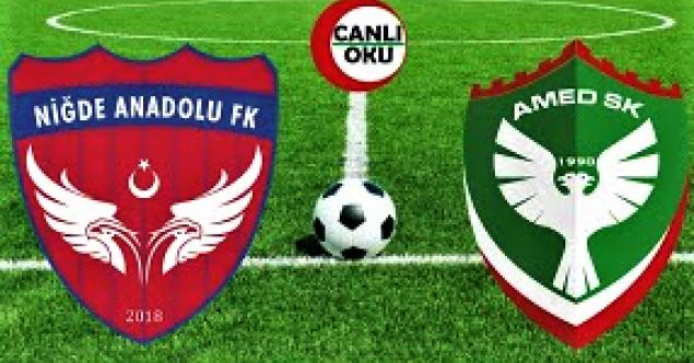 NİĞDE ANADOLU FK DİYARBAKIR DEPLASMANINDAN 3 PUAN ÇIKARDI